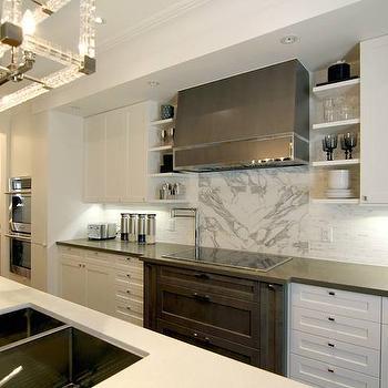 mixed marble cooktop backsplash design ideas