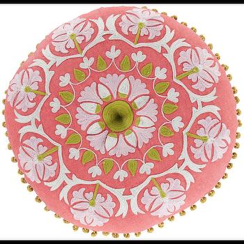 Suzani Hot Pink & Moss Pillow design by Surya I Burke Decor