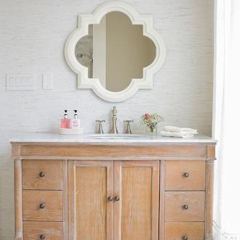 Quatrefoil Mirror Cottage Living Room Moth Design