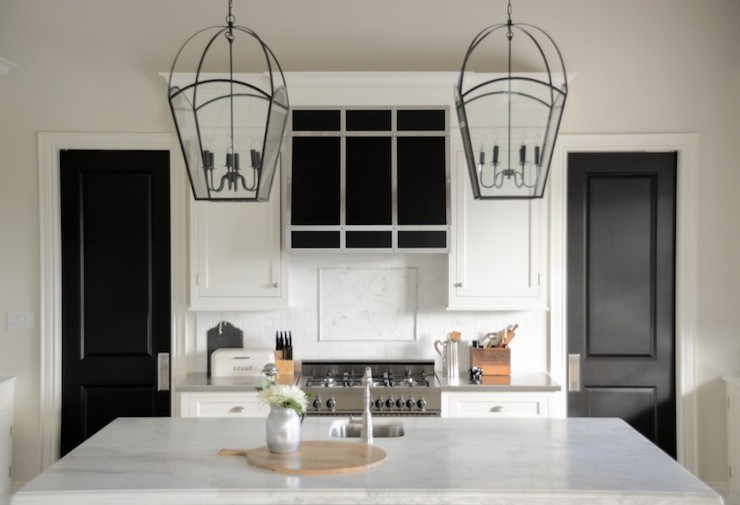 Island Lanterns Transitional Kitchen Benjamin Moore