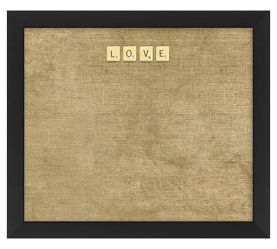 LOVE Taupe Scrabble Corkboard