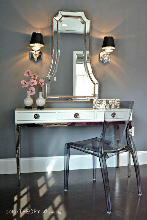 Channing Three Drawer Console Table Contemporary