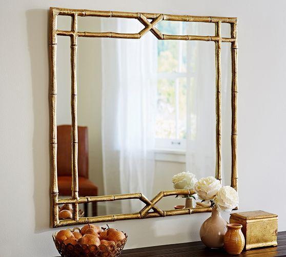 Gilt Faux Bamboo Mirror Pieces