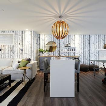 Basement Family Room, Contemporary, basement, Nest Design Studio