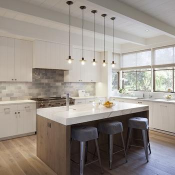 White Quartzite Countertops Contemporary Kitchen Milton Development