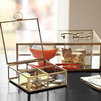 Callie Glass Desk Boxes, Pottery Barn