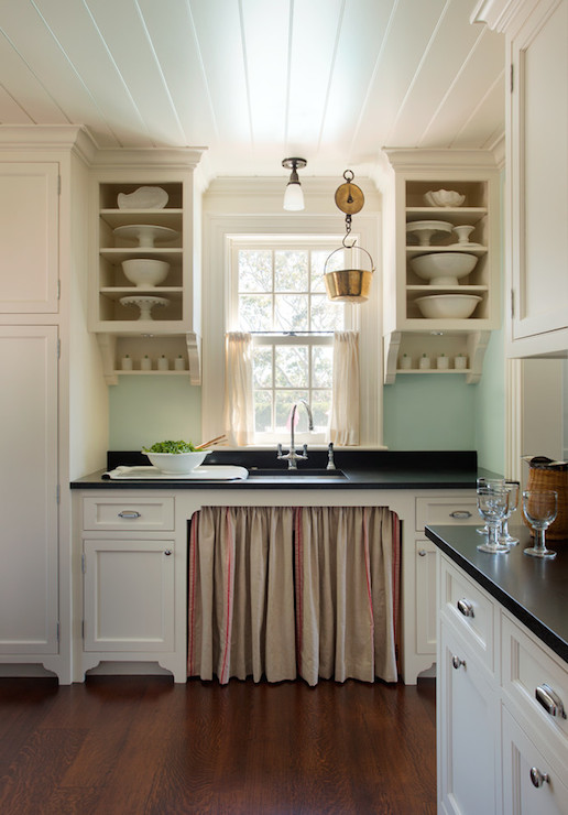 Frsoted Glass Cabinets Vintage Kitchen The Elegant Abode