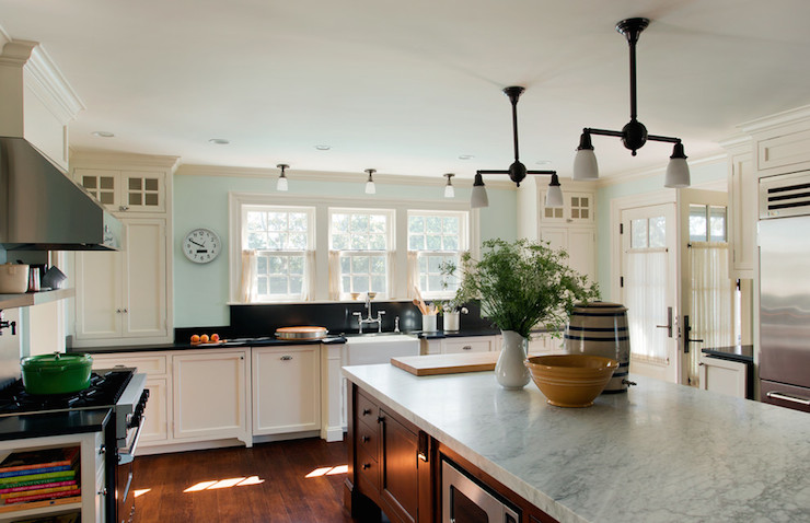Carrera Counters - Country - kitchen - Benjamin Moore ...