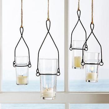 Wire Glass Hanging Votive Holder, Pottery Barn