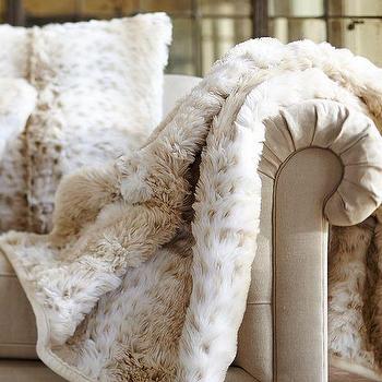Faux Fur Throw Mongolian Lamb West Elm