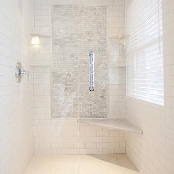 shower accent tiles - Walk In Shower Design Ideas