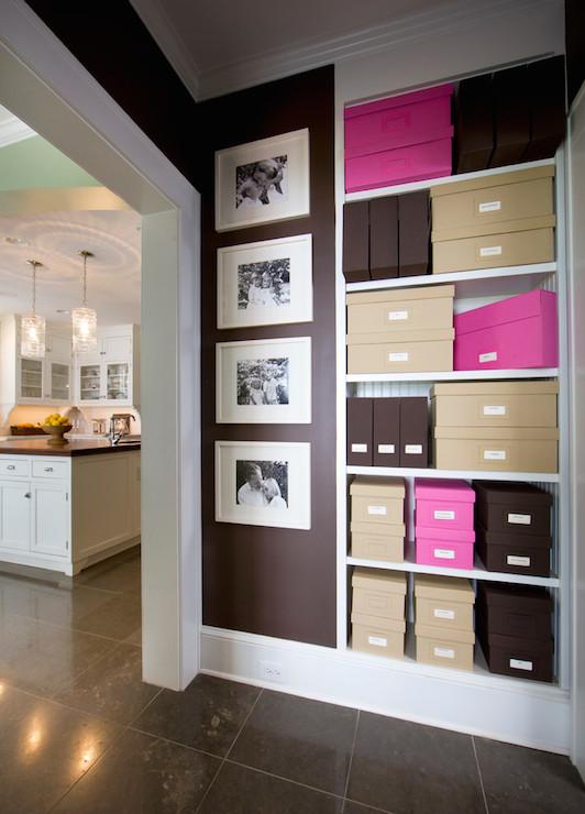 Dark brown wall color design ideas for Dark brown kitchen walls