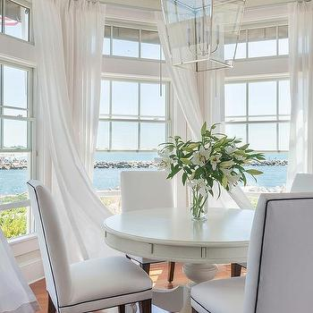 Bay Window Breakfast Nook, Cottage, dining room, Kate Jackson Design
