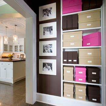 Hallway Built In Cabinets Contemporary Entrance Foyer