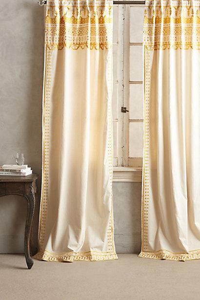 Shower Curtains crate and barrel shower curtains : Bella Porte Citrine Curtain Panels - Crate and Barrel