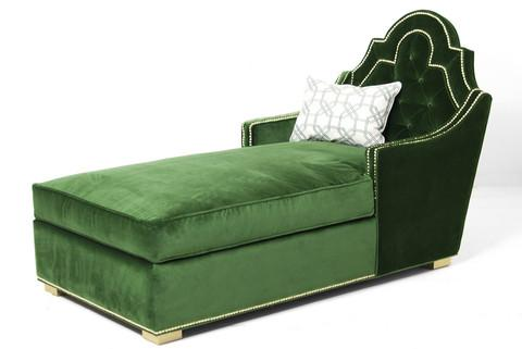 Attractive Marrakesh Green Chaise Lounge LD71