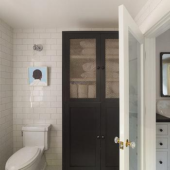 Metal Mesh Cabinet, Transitional, bathroom, HSH Interiors