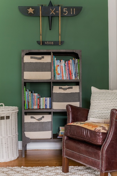 Industrial Bookcase Transitional Boy S Room Erin