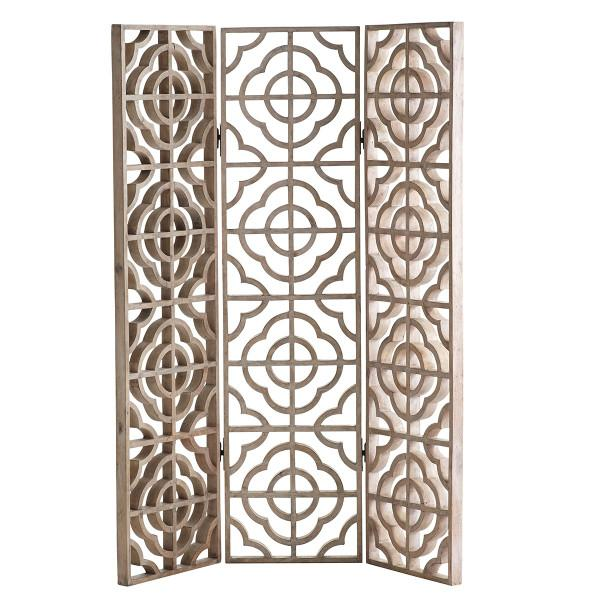 Target Room Divider With Circle Pattern Red