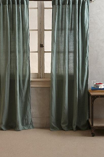 Linen Balsas Green Curtain