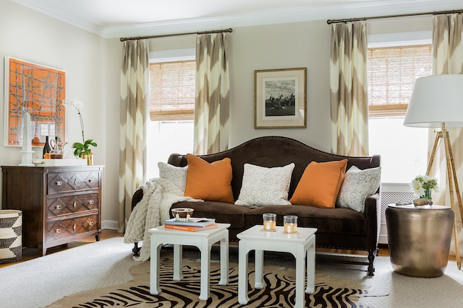 Chevron Curtains Transitional Living Room Erin Gates