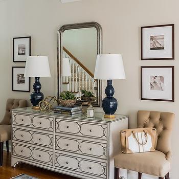 Bernhardt Cabrillo Nailhead Dresser, Transitional, entrance/foyer, Erin Gates Design