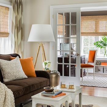 Chevron Curtains - Transitional - living room - Erin Gates Design