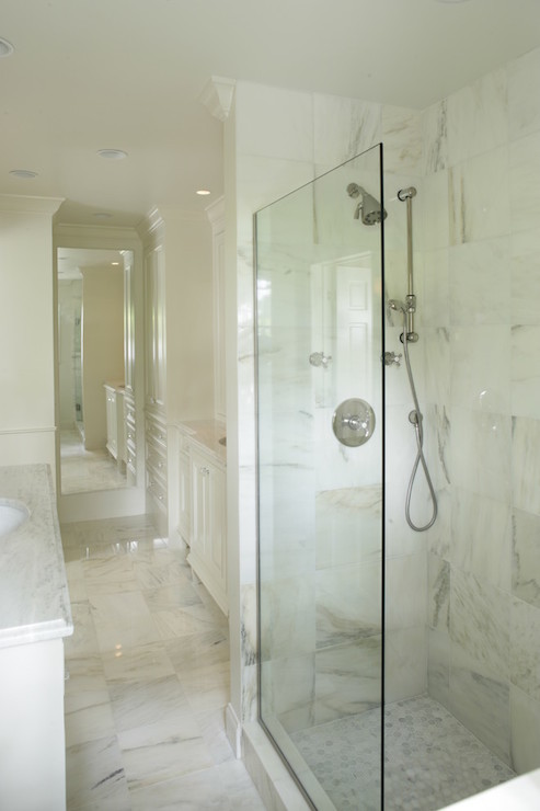 Calacatta Floor Transitional Bathroom Structures Homes