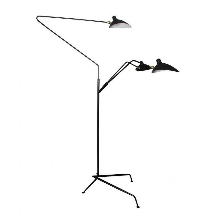 Serge mouille three arm floor lamp gurus floor - Serge mouille three arm floor lamp ...
