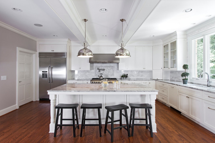 Kitchen Sloped Ceiling Transitional Kitchen