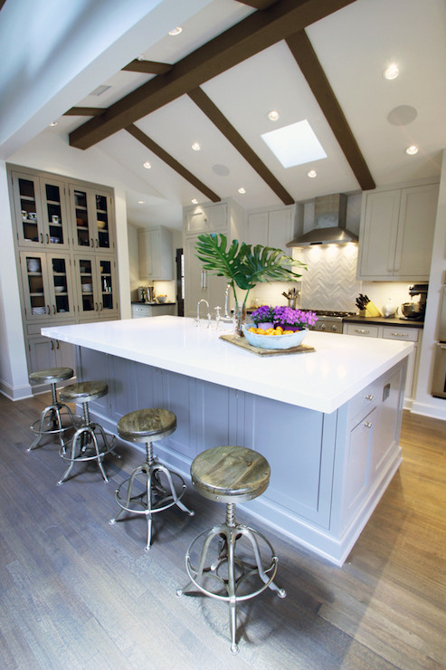 Vaulted Ceiling Kitchen Transitional Kitchen