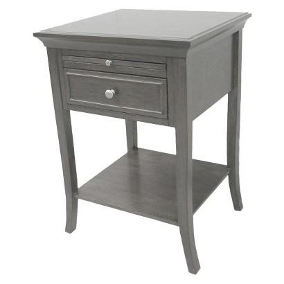 Charming Threshold Simply Extraordinary Grey Side Table