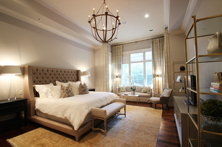 View Full Size. Elegant Bedroom Features Tray Ceiling ...