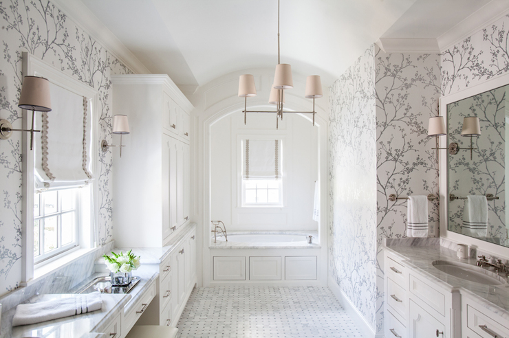 White And Silver Bathrooms