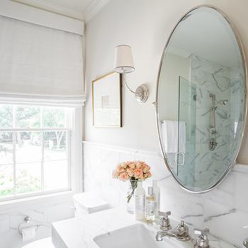 Oval Pivot Bathroom Mirror Design Ideas