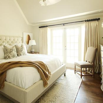 Ivory Tufted Bed, Transitional, bedroom, Marie Flanigan Interiors
