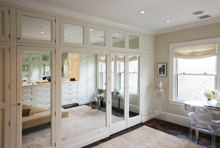 Mirrored Wardrobes Transitional Closet Crown Point