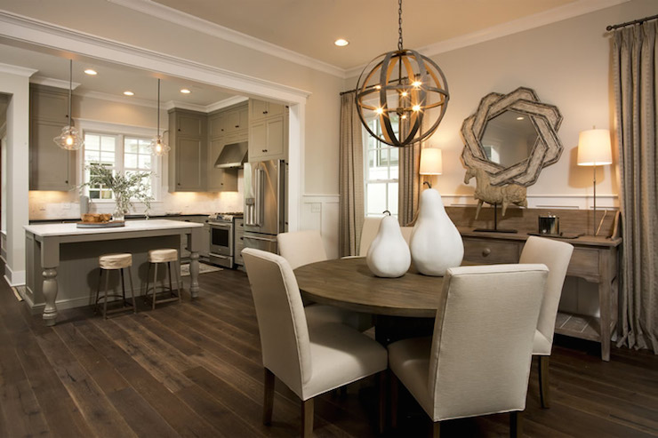 Gorgeous Open Concept Kitchen Dining Room With Khaki