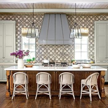 Mindful Gray, Cottage, kitchen, Southern Living, Sherwin Williams Mindful Gray