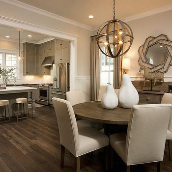 Transitional   Dining Room View Full Size. Gorgeous Open Concept Kitchen Dining  ...