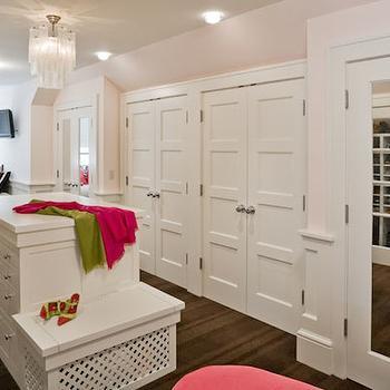 Closet With Fabric Doors Transitional Closet