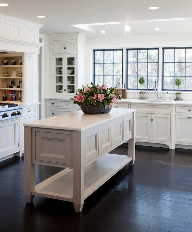 Freestanding Kitchen Island - Transitional - kitchen - Crown ...