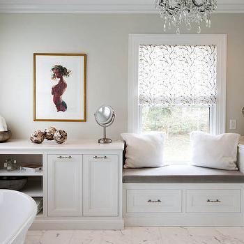 Mirrored Bathroom Cabinets Transitional Bathroom