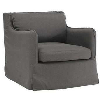 Pacific Heights Upholstered Chair, Charcoal Gray I Target