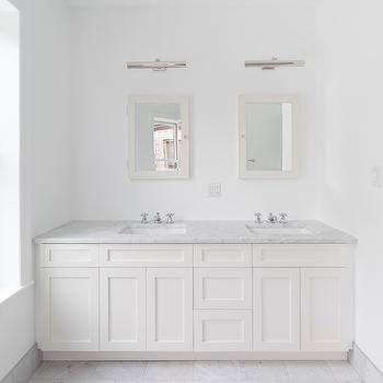 vanity picture lights - White Bathroom Cabinets And Vanities