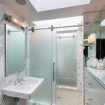 Frosted Sliding Shower Doors