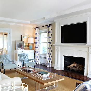 Fireplace TV Niche, Transitional, living room, Chango & Co.