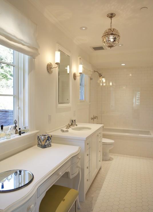 White And Yellow Bathroom Contemporary Bathroom Nb