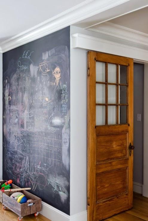 Interior Chalkboard Doors Design Ideas