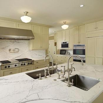 Double Islands Sinks, Transitional, kitchen